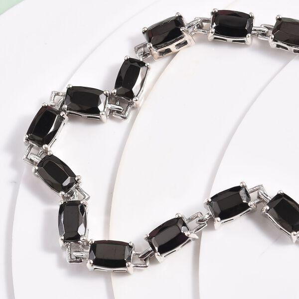 Elite Shungite Bracelet (Size 7) in Platinum Overlay Sterling Silver 6.25 Ct, Silver wt 8.64 Gms