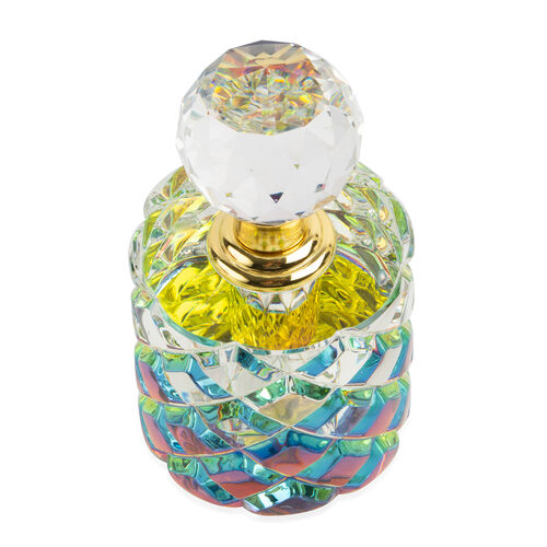 Refillable Glass Perfume Bottle with Faceted Cap (5 ML) - Cylinder Shape