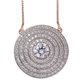 Limited Edition-J Francis - Rose Gold Overlay Sterling Silver (Rnd) Adjustable Necklace (Size 18) Ma