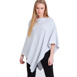 Kris Ana Scatter Poncho One Size (8-20) - Light Grey