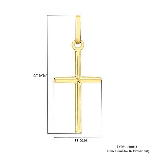 9K Yellow Gold Cross Pendant