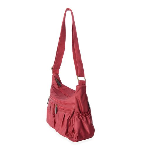 Annabelle Water Resistant Burgundy Colour Crossbody Bag with Adjustable Shoulder Strap  (Size 28x24x10 Cm)