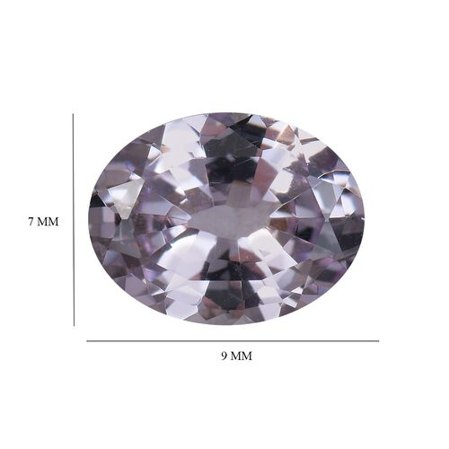 Purple Sapphire Oval 8.4x6.7 Faceted 1A 1.85 Cts