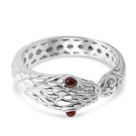 Royal Bali Collection Mozambique Garnet Snake Ring in Sterling Silver
