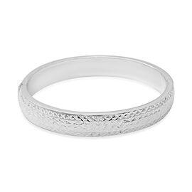 Designer Inspired Sterling Silver Diamond Cut Bangle (Size 7.5), Silver wt 19.00 Gms