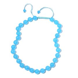 Designer Inspired- Aquamarine Colour Quartzite (Rnd) Beads Necklace (Size 18) 534.000 Ct