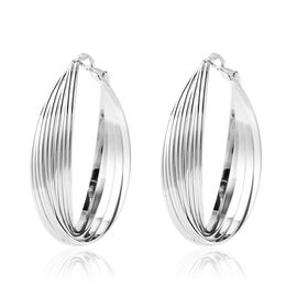 Hoop Earrings in Silver Tone
