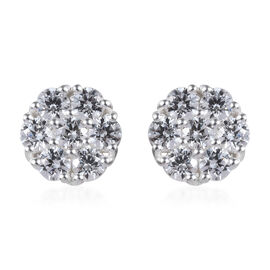J Francis Made with SWAROVSKI ZIRCONIA Floral Stud Earrings in Sterling Silver