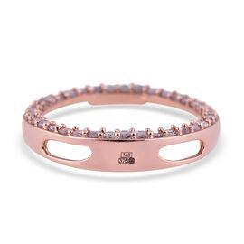 9K Rose Gold SGL Certified Natural Pink Diamond (I3) Circle Pendant  0.50 Ct.