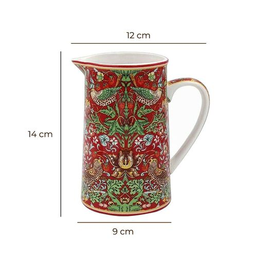 Lesser & Pavey - Willam Morris Strawberry Thief Red Jug