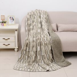 Deluxe CollectionHigh Quality Moss Grey Faux Fur Sherpa Blanket (150x200 cm)