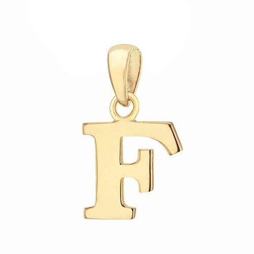9K Yellow Gold Initial F Pendant