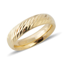 Treasure of Istanbul 9K Yellow Gold Diamond Cut Band Ring Gold Wt. 1.71 Grams