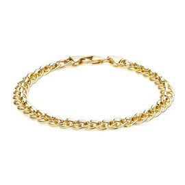 Roller Ball Link Chain Bracelet in 9K Gold 7.5 Inch