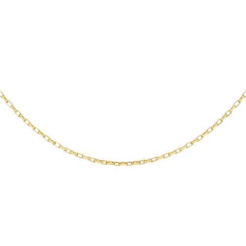 9K Yellow Gold Diamond Cut Belcher Chain (Size 24), Gold wt 3.50 Gms