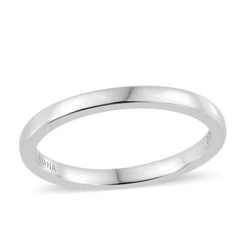 ILIANA 18K White Gold 2mm Plain Wedding Band Ring, Gold Wt. 2.10 gms