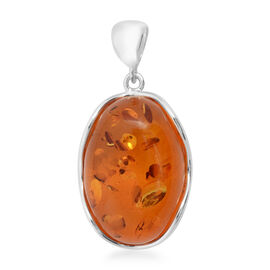 Baltic Amber Pendant  in Sterling Silver, Silver wt 8.00 Gms