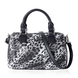Close Out Deal Leopard Pattern Tote Bag with Removable and Adjustable Shoulder Strap (Size 29x21.5x1