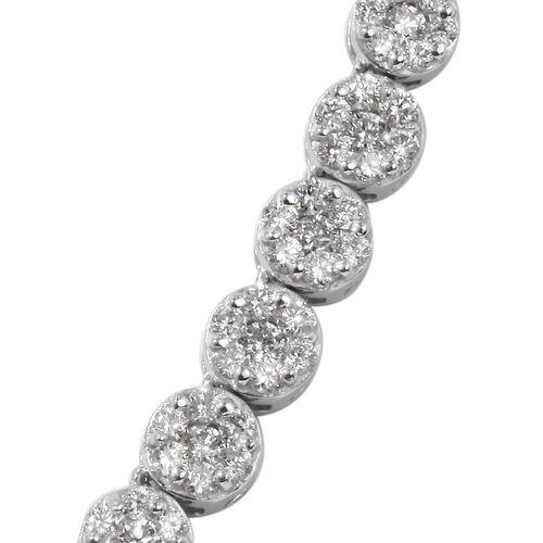 RHAPSODY 950 Platinum Diamond IGI Certified (Rnd) (VS/E-F) Necklace (Size 15 with 3 inch Extender) 5.000 Ct., Platinum wt. 34.00 Gms