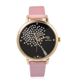 STRADA Japanese Movement Celebration Watch with Pink Colour Strap