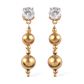 J Francis Made with SWAROVSKI ZIRCONIA Dangle Earrings in Gold Plated Sterling Silver