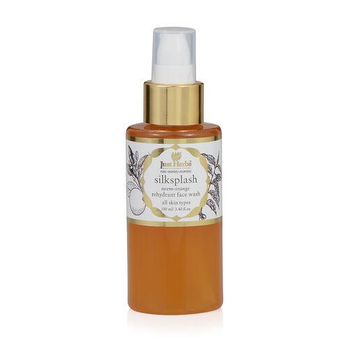 (Option 1) Just Herbs Silksplash Neem-Orange Rehydrant Face Wash (100 ml)