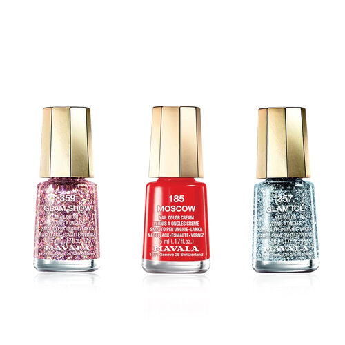 MAVALA- Trio Santas Little Helpers-357 Glam Ice, 185 Moscow and 359 Glam Show 5ml