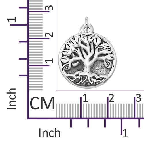 Sterling Silver Tree of Life Pendant, Silver wt 4.54 Gms.