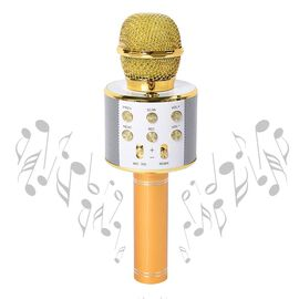 OTO - Wireless Karaoke Microphone Speaker with Bluetooth & USB Cable - Gold