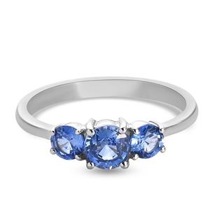 RHAPSODY 950 Platinum AAAA Royal Ceylon Sapphire Ring 1.25 Ct.