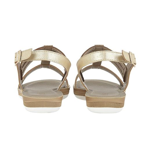 Lotus Gold Rome Sling-Back Sandals (Size 4)