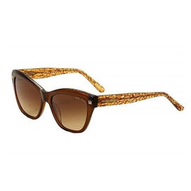 GUESS MARCIANO Womens Cat Eye Brown Sunglasses with Brown Lenses