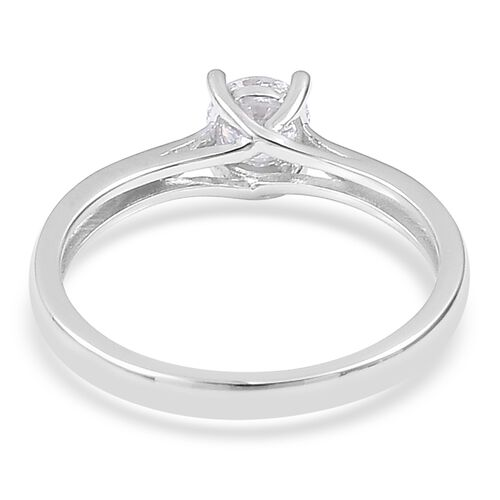 ILIANA 0.50 carat IGI CERTIFIED Brilliant Cut Diamond (SI/H) Solitaire Ring in 18K White Gold
