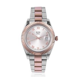 EON 1962 Swiss Movement Sapphire Glass 3ATM Water Resistant Watch in Rose Gold Tone with Stainless S