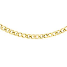 9K Yellow Gold Curb Chain (Size 24) with Lobster Clasp, Gold wt. 5.50 Gms