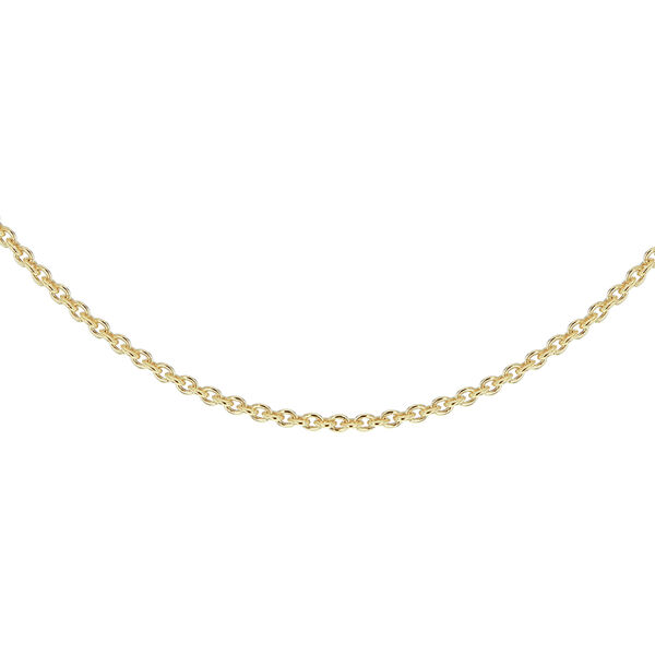 14K Gold Overlay Sterling Silver Rolo Chain (Size 24)