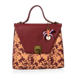 Bulaggi Collection - Marcella Handbag (Size 26x23x10 Cm) - Burgundy