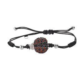 GP Multi Gemstone Adjustable Bracelet (Size 6.5 to 10) in Platinum Overlay Sterling Silver 2.00 Ct,