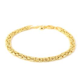 JCK Vegas Collection 9K Yellow Gold  Byzantine Bracelet (Size 7.5), Gold wt 4.66 Gms.