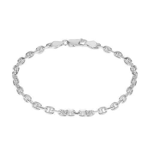 JCK Vegas Collection Mariner Bracelet in Rhodium Plated Sterling Silver 3.70 grams Size 7.25 Inch