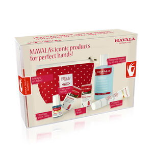 Mavala: Polka-Dot Nail Set (Incl. 002 Base Coat - 5ml, Colourfix - 5ml, Fast Dryer - 5ml, Hand Cream - 30ml, Nail Polish Remover - 100ml & Limited Edition Purse) (With Free Glam Style Bauble) (Navigation Beauty) photo
