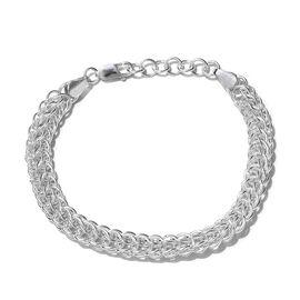 One Time Mega Sterling Silver Bracelet (Size 7 and 1 inch Extender), Silver wt 16.01 Gms.