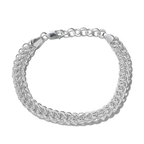 One Time Mega Sterling Silver Bracelet (Size 7 and 1 inch Extender), Silver wt 16.01 Gms.