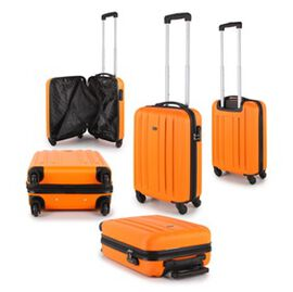 Close Out Deal- 21 Inch Carry On Luggage Lightweight ABS Shell 4 Wheel Spinner Suitcase - Orange