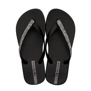 Ipanema Glam Special Crystal Flip Flop in Black (Size 4)