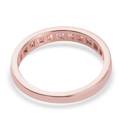 Exclusive Edition 9K Rose Gold SGL Certified Natural Pink Diamond Half Eternity Ring 0.33 Ct.