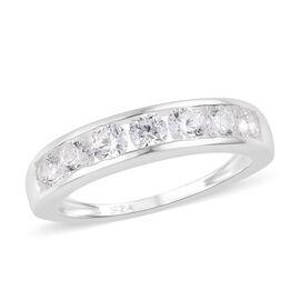 Swarovski Zirconia Half Eternity Band Ring in Sterling Silver
