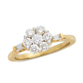 ILIANA 18K Yellow Gold IGI Certified Diamond (Rnd) (SI/G-H) Ring  0.755  Ct.