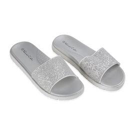 Ladies Sliders  Silver Colour