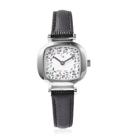 RACHEL GALLEY Lattice Collection Swiss Movement Watch with Black Genuine Leather Strap- Green